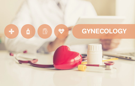 gynecology: HEALTH CONCEPT: GYNECOLOGY