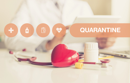 contagion: HEALTH CONCEPT: QUARANTINE Stock Photo