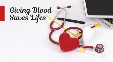 HEALTH CONCEPT: GIVING BLOOD SAVES LIFES