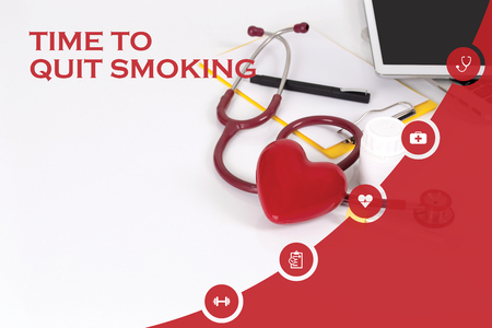 HEALTH CONCEPT: TIME TO QUIT SMOKING