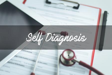 a diagnosis: HEALTH CONCEPT: SELF DIAGNOSIS