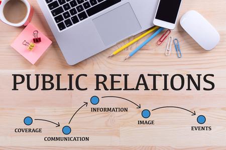 PUBLIC RELATIONS MEILENSTEINE CONCEPT Standard-Bild