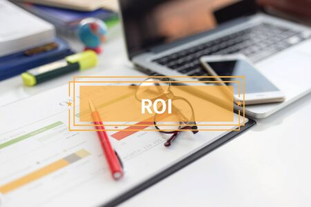 BUSINESS AND FINANCE CONCEPT: ROI