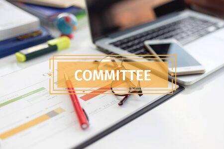 comité d entreprise: BUSINESS CONCEPT: COMITÉ Banque d'images