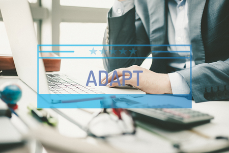 adapt: BUSINESS CONCEPT: ADAPT Stock Photo