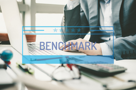 benchmark: BUSINESS CONCEPT: BENCHMARK Stock Photo