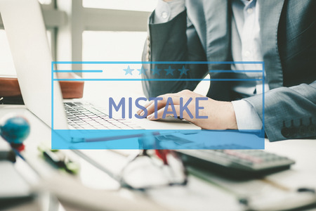mistake: BUSINESS CONCEPT: MISTAKE Stock Photo