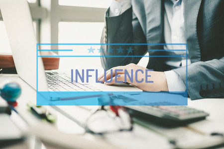 BUSINESS CONCEPT: INFLUENCE Stock Photo