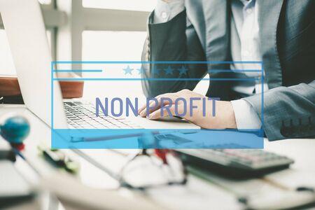 non: BUSINESS CONCEPT: NON PROFIT Stock Photo