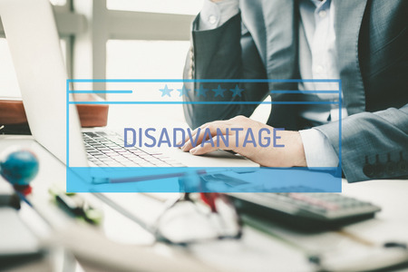 disadvantage: BUSINESS CONCEPT: DISADVANTAGE Stock Photo