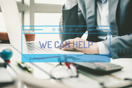 can we help: BUSINESS CONCEPT: WE CAN HELP