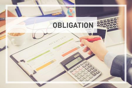 BUSINESS CONCEPT: OBLIGATION Stock Photo