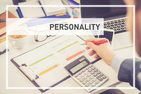 extrovert: BUSINESS CONCEPT: PERSONALITY Stock Photo