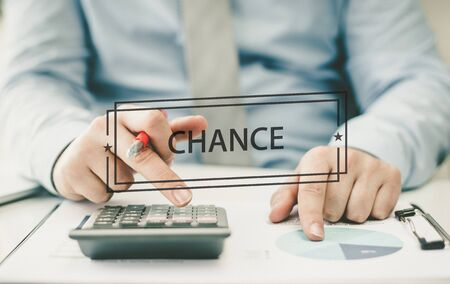 chance: BUSINESS CONCEPT: CHANCE Stock Photo