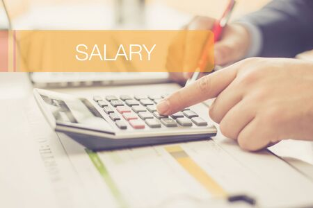 FINANCE CONCEPT: SALARY Stock Photo