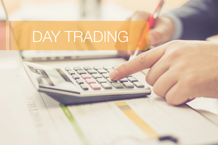 FINANCE CONCEPT: DAY TRADING Stock Photo