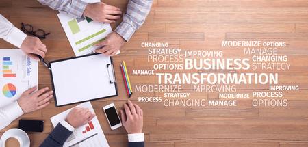 Bedrijfsconcept: Business Transformation Word Cloud Stockfoto