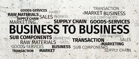 b2b: Business Concept: B2B Word Cloud Foto de archivo