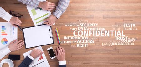 Concept d'affaires: Confidental Word Cloud Banque d'images