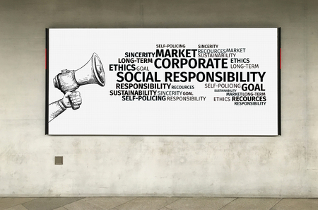 tag cloud: Business Concept: Corporate Social Responsibility Word Cloud