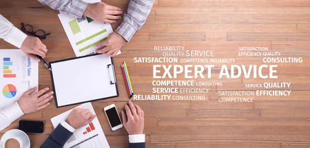 Business Concept: Expert Advice Word Cloud