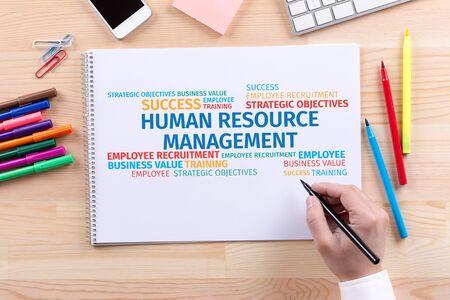 Business Concept: Human Resources Management Word Cloud Stock Photo