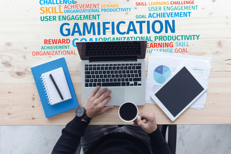 Business Concept: Gamification Word Cloud
