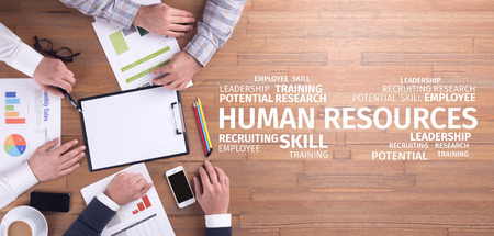 Business Concept: Human Resources Word Cloud Stok Fotoğraf - 69953559