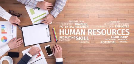 Concepto de negocio: Recursos Humanos nube de la palabra Foto de archivo - 69953559