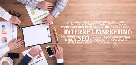 Business Concept: Internet Marketing Word Cloud Standard-Bild