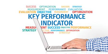 kpi: Business Concept: KPI Word Cloud Stock Photo