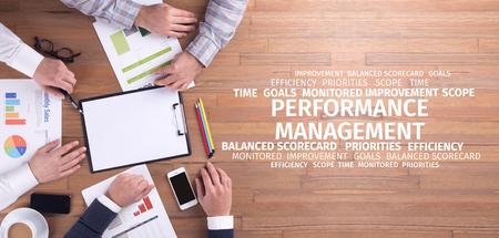 intervenes: Business Concept: Performance Management Word Cloud