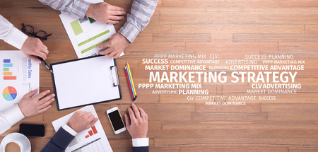 4p: Business Concept: Marketing Strategy Word Cloud