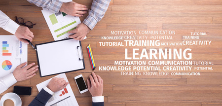Education Concept: Learning Word Cloud Stock Photo