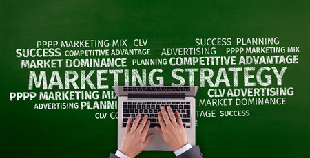 Business Concept: Marketing Strategy Word Cloud