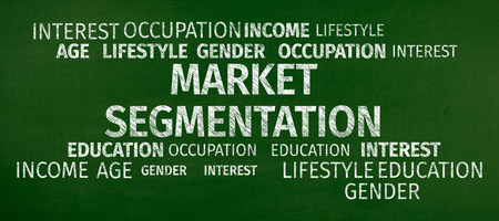 categorize: Business Concept: Market Segmentation Word Cloud