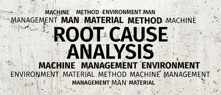 Business Concept: Root Cause Analysis Word Cloud
