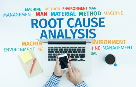 Business Concept: Root Cause Analysis Word Cloud Stock Photo