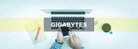 gigabytes: TECHNOLOGY CONCEPT: GIGABYTES