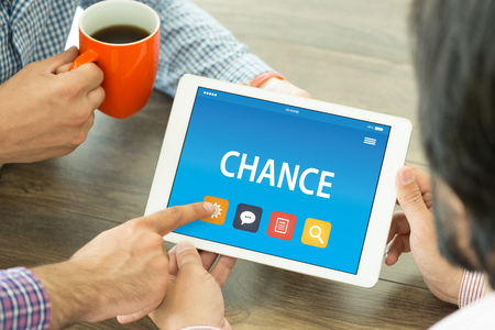 chance: CHANCE CONCEPT ON TABLET PC SCREEN