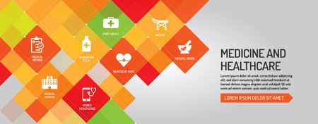 healthcare and medicine: Medicine and Healthcare banner Illustration