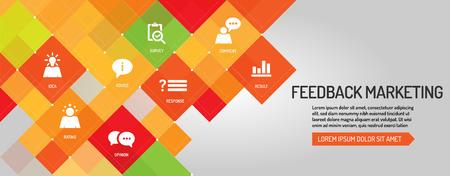 Feedback Marketing banner Illustration