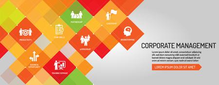 Corporate Management  banner Illustration