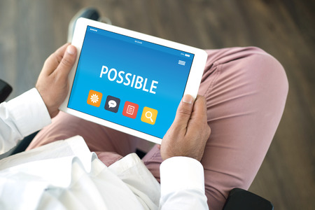 unachievable: POSSIBLE CONCEPT ON TABLET PC SCREEN Stock Photo