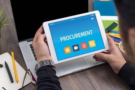 タブレット PC 画面上の調達のコンセプト