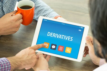 DERIVATIVES CONCEPT ON TABLET PC SCREEN