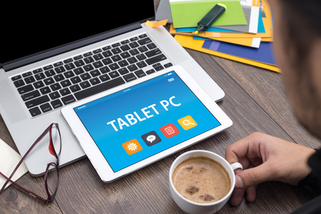 pc: TABLET PC CONCEPT ON TABLET PC SCREEN
