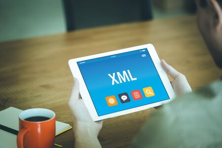 xml: XML CONCEPT ON TABLET PC SCREEN