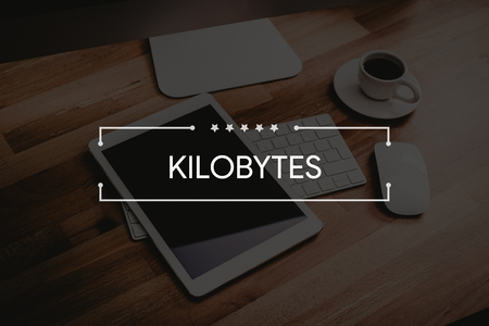 gigabytes: KILOBYTES CONCEPT Stock Photo