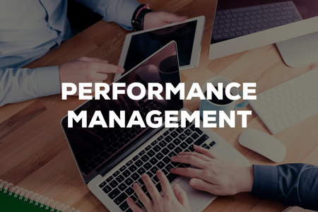 overruns: PERFORMANCE MANAGEMENT CONCEPT Stock Photo